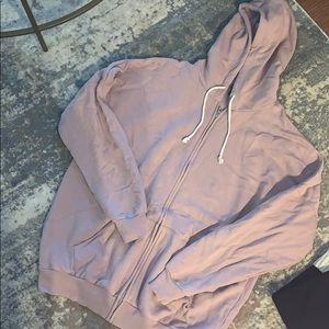 Oversized zip up hoodie